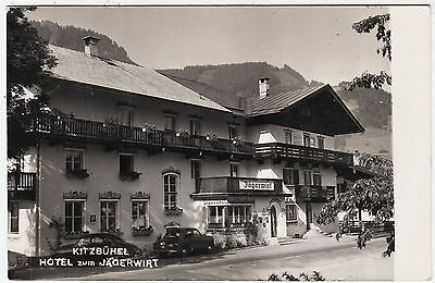 AUSTRIA Tirol - Kitzbuhel - Hotel zum Jagerwirt - 1956 used real photo postcard