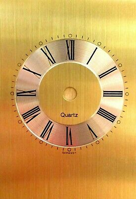 Replacement Quartz Germany Gold Silver Carriage Clock Dial Face Black Numerals