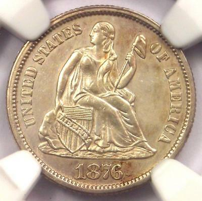 1876-CC Seated Liberty Dime 10C - NGC Uncirculated Details (UNC MS) - Rare Coin!