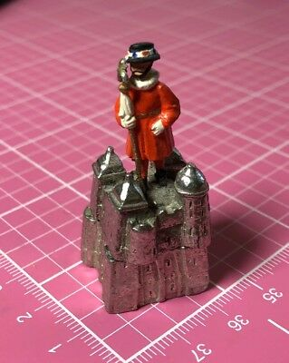 Pewter Thimble Hand Painted Tower Of London Guard