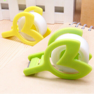 Desktop Tape Dispenser With Tape Cutter Plastic Tape Seat Tape Holder Useful D