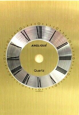 Replacement Metal Quartz Anglique Gold Carriage Clock Dial Face Black Numerals