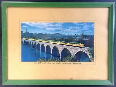 Vintage Chicago & North Western The 400 Framed Color Photo Print Poster 1939