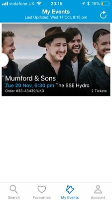 Muford and Sons Tickets SSE HYDRO