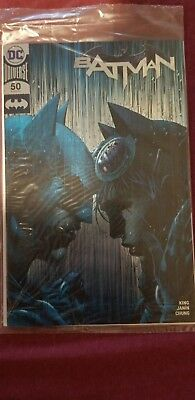 Batman #50 SDCC 2018 Silver Foil Variant Jim Lee NM DC Comics