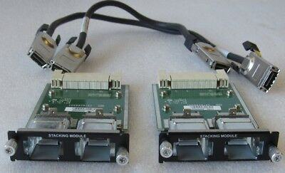 LOT OF 2x DELL POWERCONNECT STACKING MODULES YY741 W/ CABLES