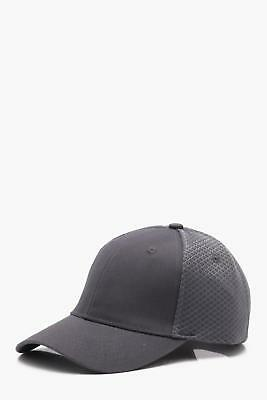 Boohoo Mens Sneaker Mesh 6 Panel Cap in Grey size One Size