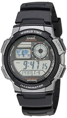 Casio Men's Quartz Analog-Digital Black Resin Band 44Mm Watch Ae1000w-1B