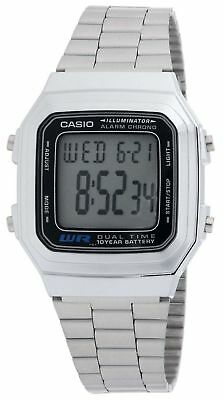 Casio Men's Quartz Illuminator 10-Year Battery Silver-Tone 32Mm Watch A178wa-1A