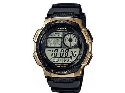 Casio Men's World Time Illuminator Alarm Resin Band 44Mm Watch Ae1000w-1A3v