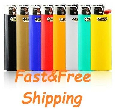 2 X Full Size Classic Big BIC Cigarette Lighters Mix Color Multipurpose Outdoor
