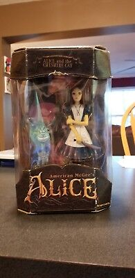 AMERICAN McGEE'S ALICE IN WONDERLAND ALICE BLOODY & CHESHIRE CAT figure EA GAMES