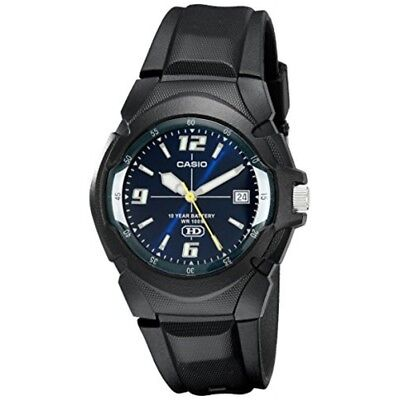Casio Men's Quartz 10-Year Battery Black Resin Strap Watch MW600F-2AV