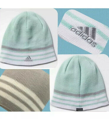 5f6b4114 NEW ADIDAS Beanie HAT Young Men Youth Unisex Reversible Climawarm Eclipse  Black