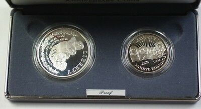 1991 Mount Rushmore 2 Coin Proof Set with Silver Dollar in Mint Packaging W/ COA