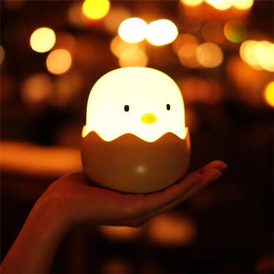 Hatched Chick Wobble LED Night Light Rechargeable & Portable for Nursery Kids