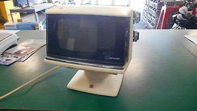 Vintage 1970's Sharp Portable TV Model 3S-111W Space Age Television - Works