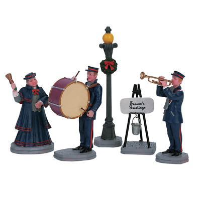 NEW Lemax Village Music Band Figurine Accessory Christmas Town Lamp Display Set