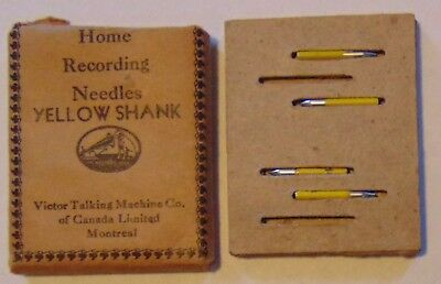RARE Vintage Victor Victrola Yellow Shank Phonograph Needles In Original Package