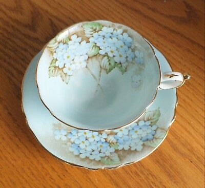 PARAGON BLUE HYDRANGEA CUP and SAUCER