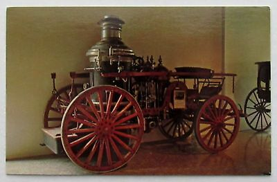 American Steam Pumper LAFRANCE Three-Horse Automobile Postcard (d649)