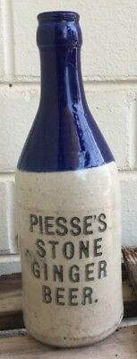 BLUE TOP GINGER BEER BOTTLE PERTH & KATANNING WA BCD & PIESSE CROWN SEAL 1920's