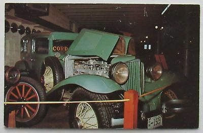Cord Car 1929 Automobile Pioneer Village Lincoln Nebraska Postcard (d650)