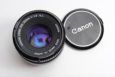 Canon FD 50mm f1.8 S.C. MF Manual Focus Lens Clean Working