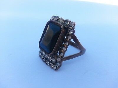 Excellent Ancient Ring bronze Roman With Beautiful Stones Artifact Amazing