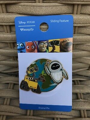 Wall-E With Flying Eve Enamel Pin Disney/Pixar/Loungefly Sliding Feature