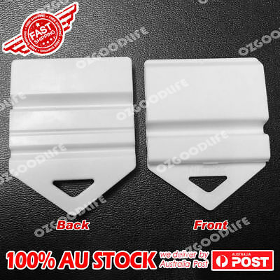 White Clip It On Plate Clips for Car Number Licence easy to use  2pcs
