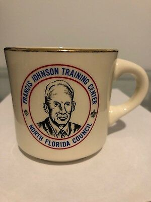 Vintage Boy Scouts Of America Francis Johnson Training Center Coffee Mug
