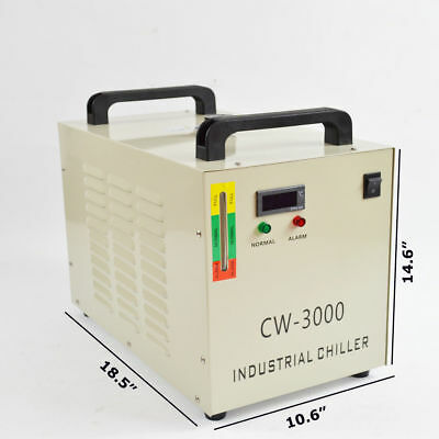 USED CW-3000DG Thermolysis Industrial Water Chiller for 60/80W CO2 Glass Tube