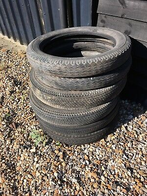 Vintage Car Tyres For Old Classic Cars X 6 Narrow