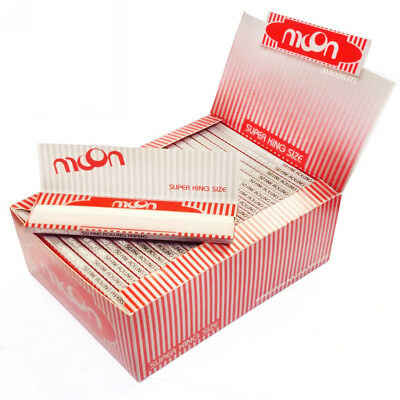 20 booklets MOON Red SUPER KING SIZE Cigarette Rolling Papers 108×54mm