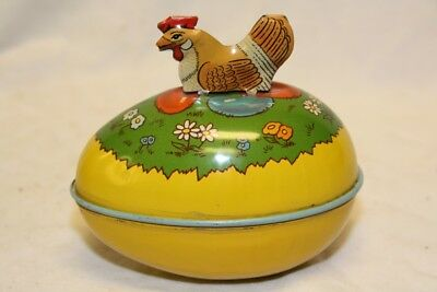 VINTAGE 1940's J CHEIN EASTER EGG CHICKEN ON TOP ** RARE **