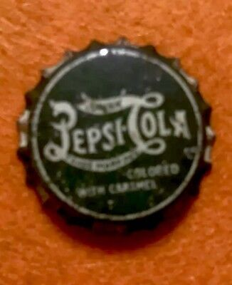 Pepsi Cork Lined Bottle Cap Green Caramel Top (RARE) See Pics 🖲 Cap2