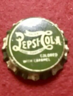 Pepsi Cork Lined Bottle Cap Green Caramel Top (RARE) See Pics 🖲 Cap3