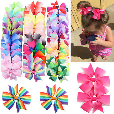 40PCS Bows Snaps Hair Clip Girls Baby Kids Hair Accessories Alligator Clips Gift