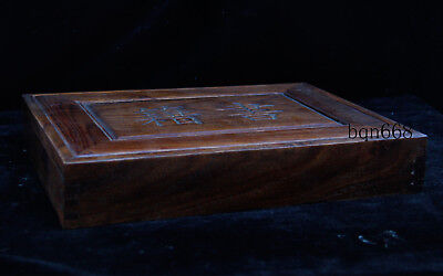 China rare antique handcarved Huanghuali Wood Book collection box