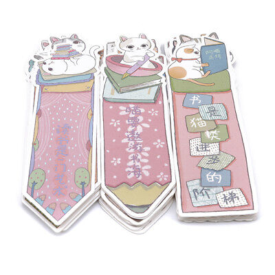 30pcs Paper Bookmark Lovely Cat Kitten Theme Paper Bookmarks Reading Marks SM