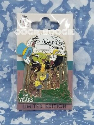 Disney 95th Anniversary Water Tower Pin Jiminy Cricket LE 250 Cast Member