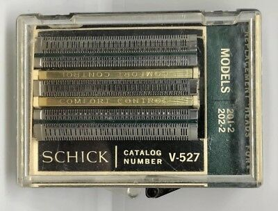 VINTAGE Schick Electric Razor Head V-527 Replacement Head 201-2 202-2 #36