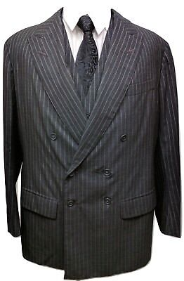 Anderson Sheppard Savile Row Men's 3 Pc Suit Size 50R Charcoal Wool Bespoke Vtg