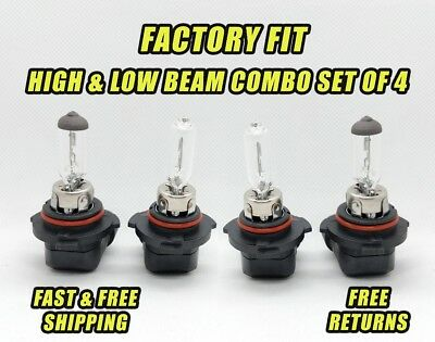 Stock Fit Halogen Headlight For Buick Lucerne 2006-2011 Low & High Beam Set of 4