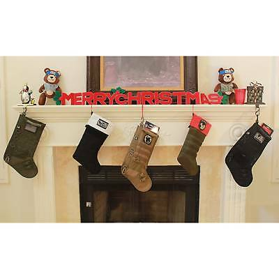 Christmas Xmas Outdoor Molle Tactical Stocking Scok Storage Bag With Molle Gear