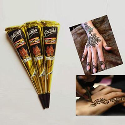 Natural Jet Black Plant Henna Tattoo Paste Into The Dark Deluxe Edition *& RT