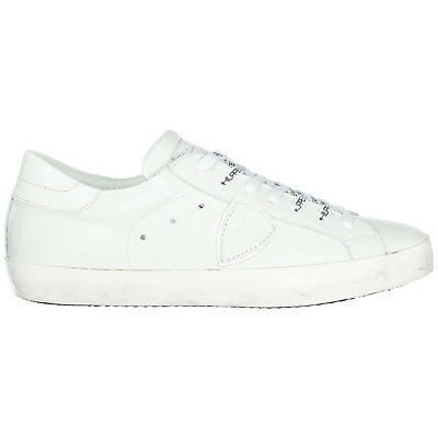 Philippe Model Men's Shoes Leather Trainers Sneakers New Paris White 2D2