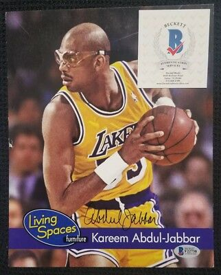 c2b4100b694 KAREEM ABDUL-JABBAR Signed Autographed LOS ANGELES LAKERS 8x10 Photo.  BECKETT