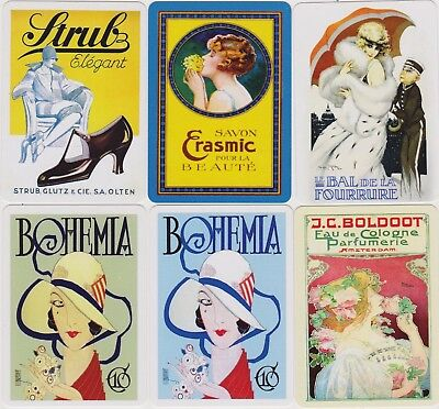 Swap/Playing Cards ~ LADIES IN ADVERTISING ~ Modern Wides x 6